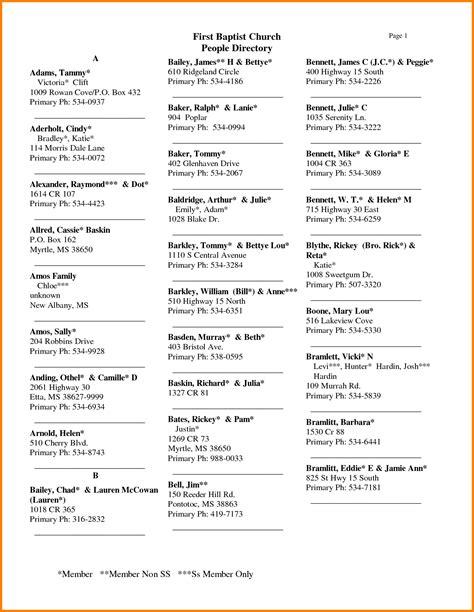 free church photo directory template church directory template word templates resume exles bqap5krgvz