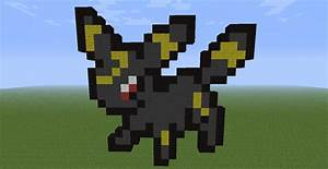 umbreon pokemon minecraft skins images pokemon images With umbreon pixel art template
