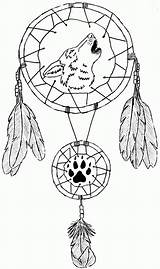 Coloring Dream Catchers Popular sketch template