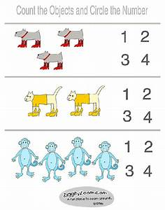 Coloring Pages: The Proper Number Numbers 1 To 4