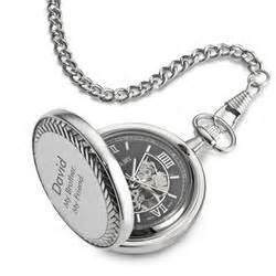 personalized black dial skeleton pocket  gift