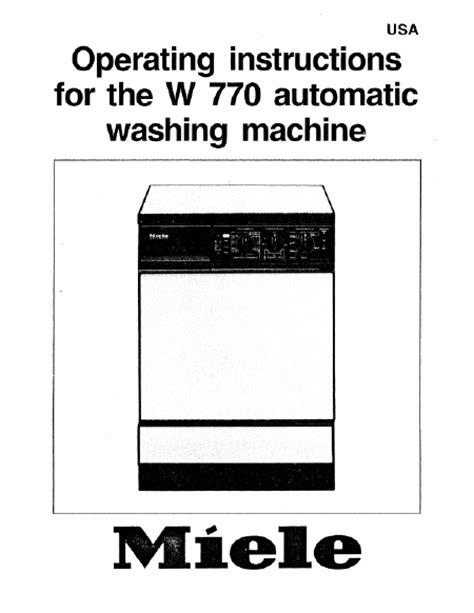 lave linge en anglais miele w 770 mode d emploi notice d utilisation manuel utilisateur t 233 l 233 charger pdf lave