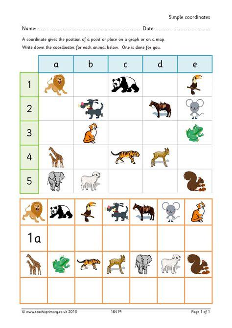maths coordinates worksheets ks1 ordered pairs and