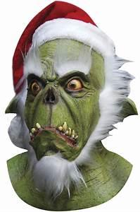 Standard Window Size Chart Home Depot Brand New Christmas Green Grinch Santa Full Mask Ebay