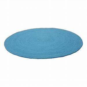 tapis rond bleu enfant halo 1 pied sur terre 90x90 With tapis rond bleu