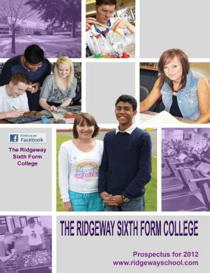 fillable   ridgeway sixth form college fax email print pdffiller