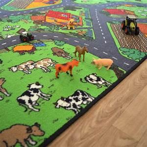 Tapis De Jeu Voiture : tapis de jeu circuit voiture campagne 145 x 200 cm ~ Dailycaller-alerts.com Idées de Décoration