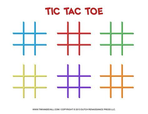 tic tac toe template playbestonlinegames