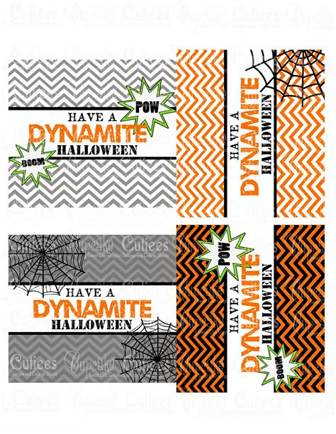 cupcake cutiees halloween dynamite rolo wrapper labels