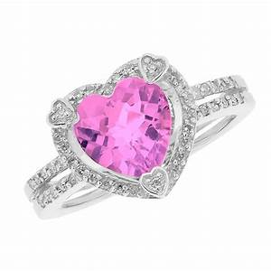 pink heart diamond rings diamondstud With heart diamond wedding rings