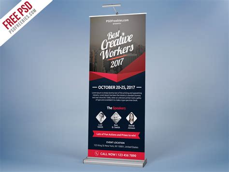concert banner template psd free freebie multi purpose event roll up template free psd by