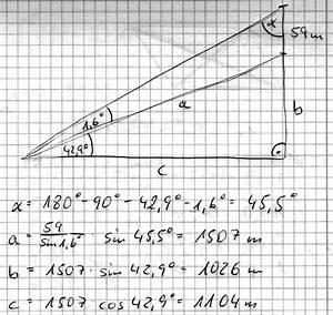 Sehwinkel Berechnen : trigonometrie berg mit 59m hohem aussichtsturm mathelounge ~ Themetempest.com Abrechnung