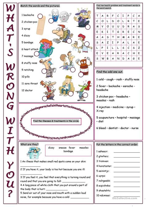 whats wrong   vocabulary exercises worksheet
