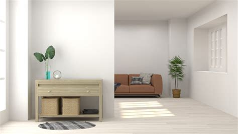 Living Room Empty Background by Cabinet In Living Room Interior Background Sofa Empty Wall