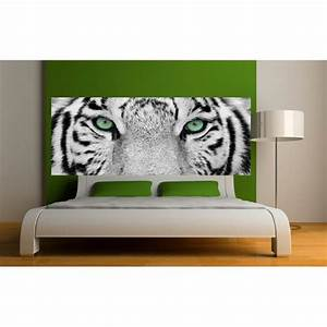 Papier Peint Sticker : papier peint t te de lit tigre art d co stickers ~ Premium-room.com Idées de Décoration
