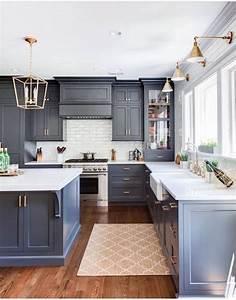 Blue, And, White, Kitchen, Decor, Inspiration, 40, Ideas