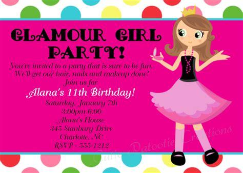 cool birthday invitations  teenagers