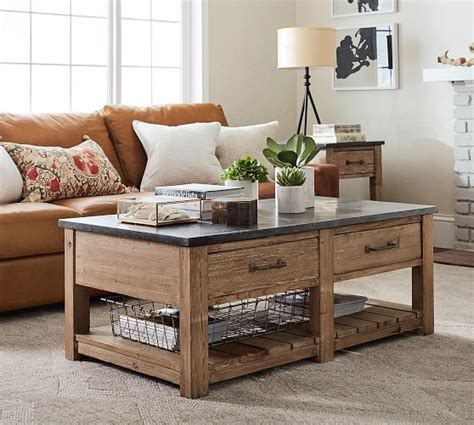 pottery barn coffee table reclaimed wood coffee table pottery barn