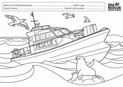 Sea Rescue Colouring Boat Competition Whole Nsri