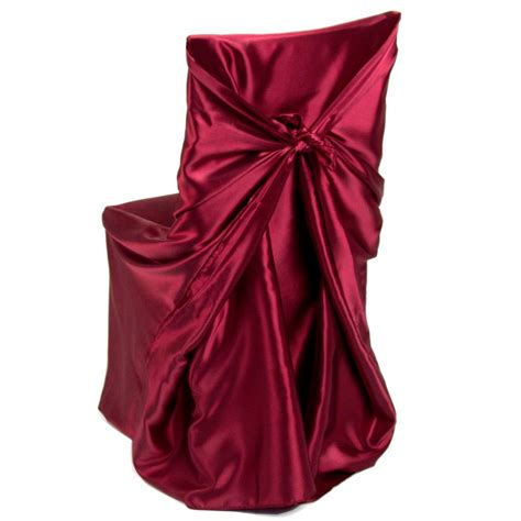 Burgundy Cover by Satin Universal Chair Cover Burgundy