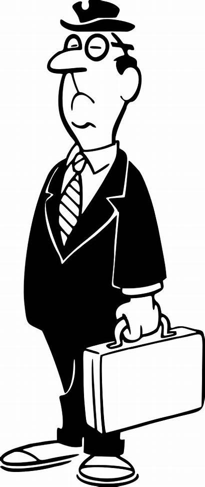 Businessman Clipart Briefcase Pengusaha Kartun Clip Microsoft