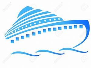 Cruise Ship clipart logo - Pencil and in color cruise ship ...