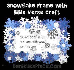 snowflake frame  bible verse craft  sunday school
