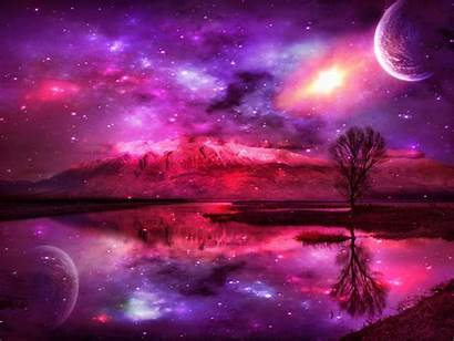 Pink Fantasy Wallpapers Background Backgrounds Pretty Landscape