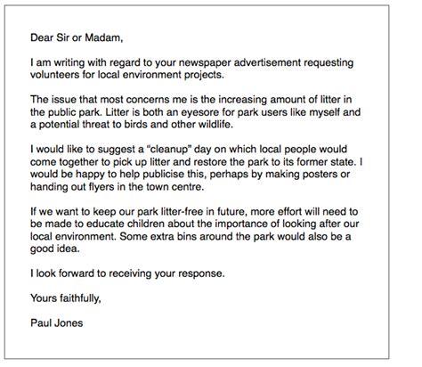 ielts general writing environment letter ielts simoncom