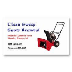 snow removal business cards images business