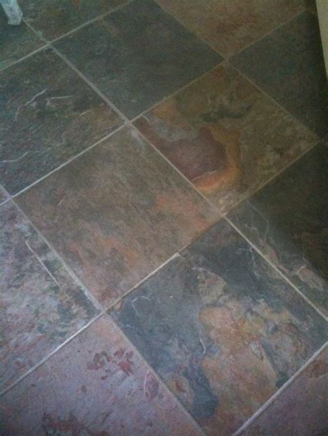 Slate floor .Durable and stain resistant .The various
