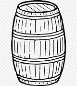 Barrel Coloring Drawing Keg Wine Clipart Icons Computer Clip Wooden Template Sketch sketch template