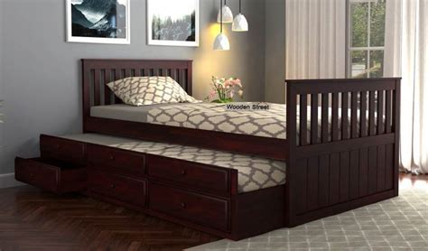buy pear kids trundle bed  storage   india
