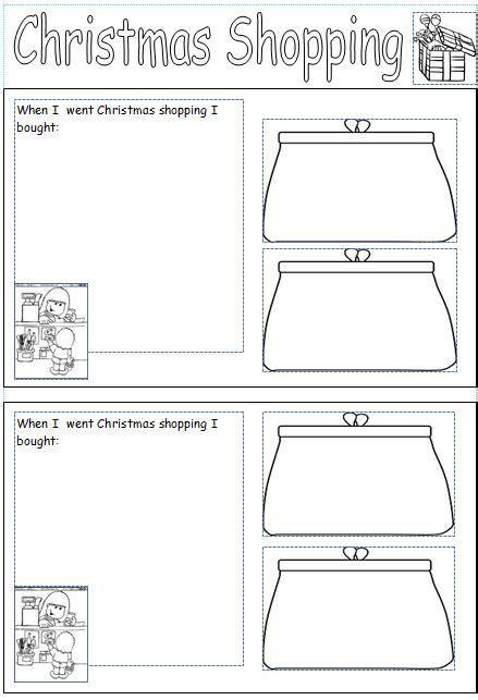 money worksheet based   theme  christmas