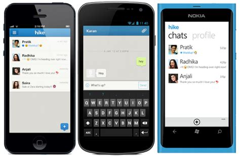 iphone texting app for android hike messaging app for iphone android and windows phone