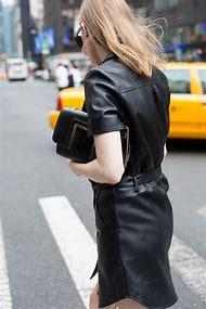 Fashion Black Leather Dress