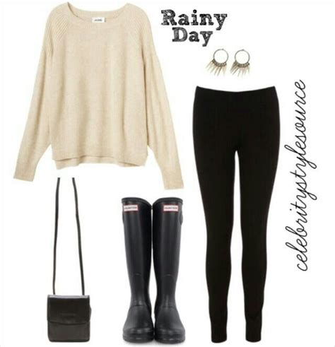 17 Best ideas about Rainy Day Outfits on Pinterest | Black hunter boots Outfits with vests and ...
