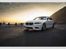 Wallpaper BMW F10 White Sunrises and sunsets automobile