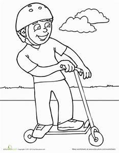 Scooter | Worksheet | Education.com