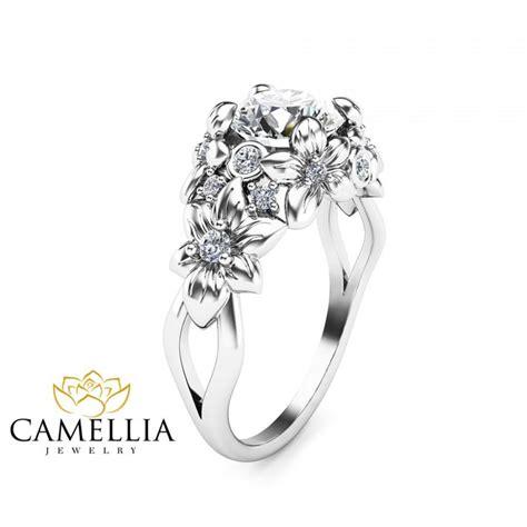 flower designed rings wedding promise