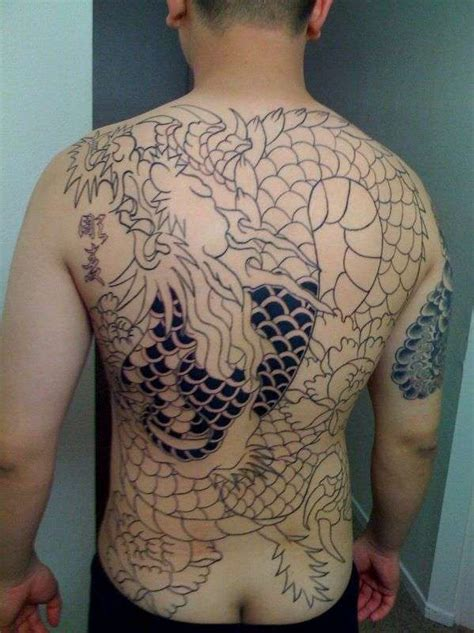 eric chois dragon full  tattoo