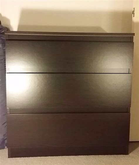 Ikea Culle by Ikea Kullen Chest Of 3 Drawers Black Brown In