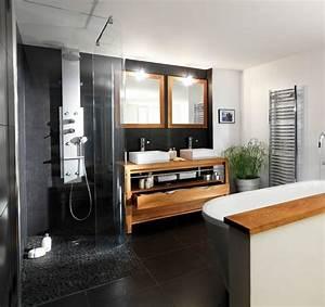 Salle De Bain Grise Et Bois : salle de bains design 12 photos pour s 39 inspirer c t ~ Melissatoandfro.com Idées de Décoration