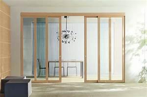 double porte coulissante verre double porte galandage With porte de garage coulissante avec porte intérieure double battant vitrée