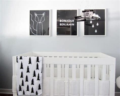 chambre en noir et blanc 10 idées de chambres en noir et blanc pour bébé