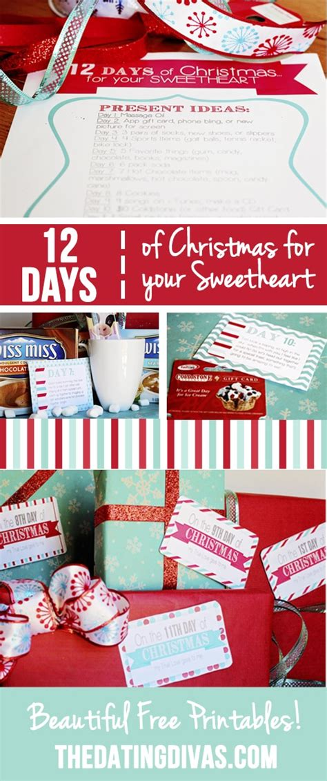 12 days of christmas theme gift ideas for coworkers 12 days of countdown for your sweetheart
