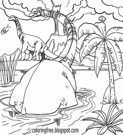 Coloring Pages Jurassic Prehistoric Dinosaur Dinosaurs Printable
