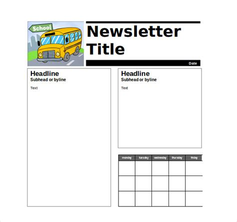 Free Newsletter Templates For Teachers by 9 Newsletter Templates Free Sle Exle