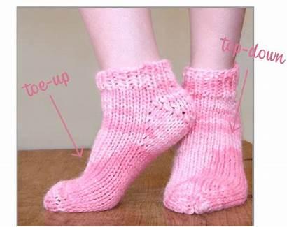 Socks Toe Bulky Patterns Down Weight Pattern