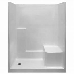 Standard 60x32 One Piece Low Threshold Shower Stall Kit